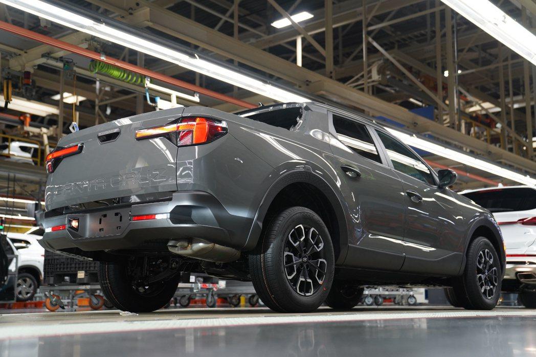 全新Hyundai Santa Cruz韓系美式皮卡正式量產。 摘自Hyunda...