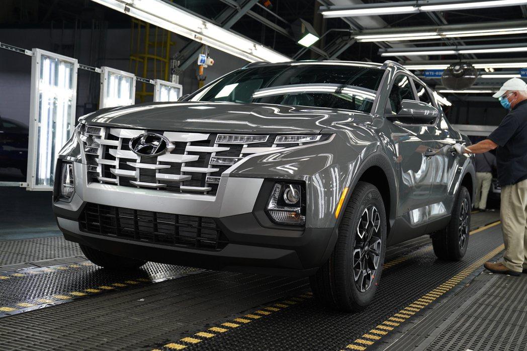 針對北美市場開發的全新Hyundai Santa Cruz。 摘自Hyundai