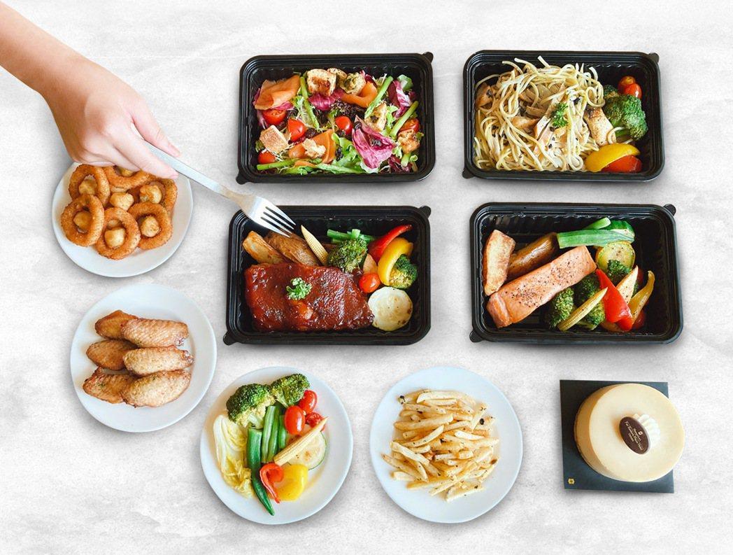 """「歡樂時光西式分享餐」含""""鮮蝦凱薩沙拉""""或""""燻鮭魚沙拉佐和風油醋""""一道、""""松露奶..."""