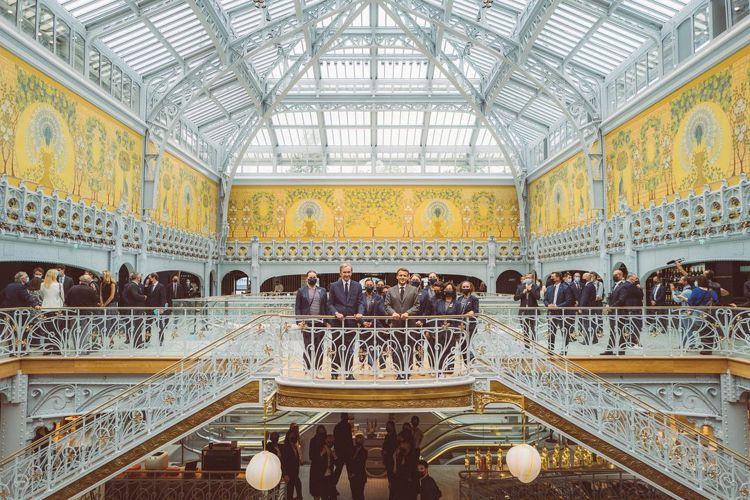 巴黎莎瑪麗丹百貨重新盛大開幕。圖/取自IG