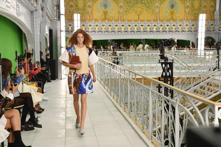 2020年10月路易威登即於莎瑪麗丹百貨內發表2021春夏女裝。圖/LV提供