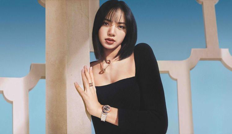 寶格麗品牌代言人LISA配戴寶格麗B.zero1系列珠寶及BVLGARI BVL...