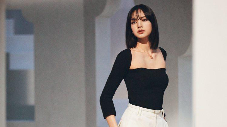 寶格麗品牌代言人LISA拍攝形象廣告幕後花絮。圖/寶格麗提供