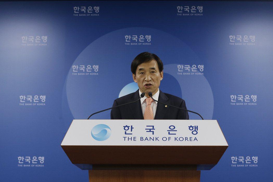 南韓央行總裁李柱烈。(美聯社)