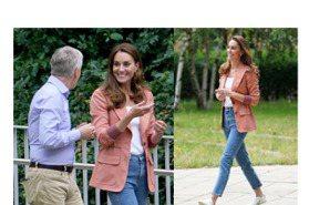 凱特王子妃這次不穿洋裝 顯氣質的珊瑚橘西裝外套也太美