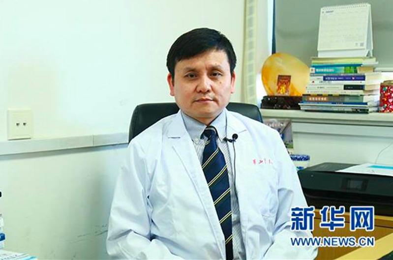 復旦大學附屬華山醫院感染科主任張文宏。新華社