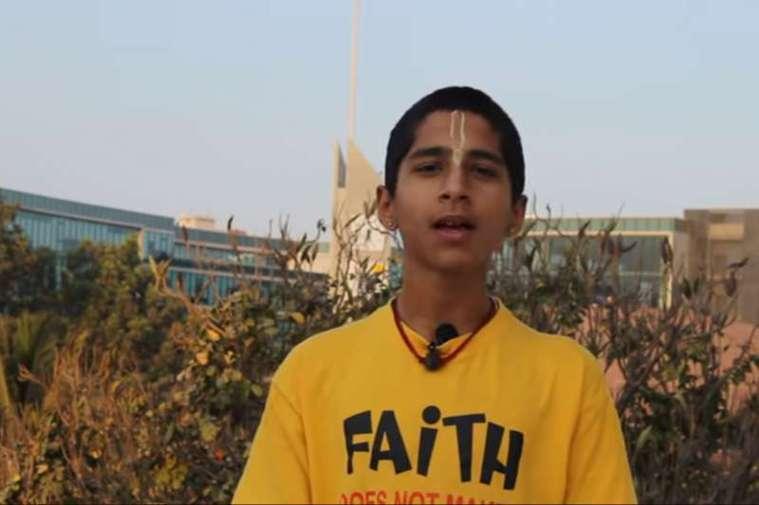 多次預言聲名大噪的「印度神童」阿南德。截自YouTube/Conscience