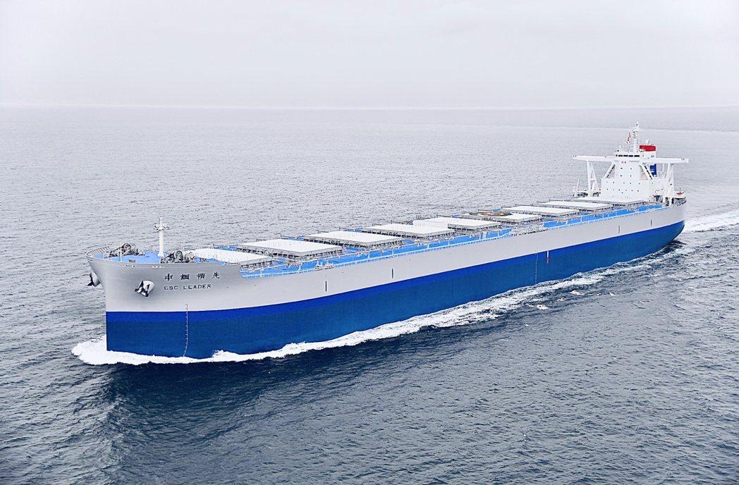 高強度船舶用鋼,生命周期即具減碳效益。圖/中鋼提供