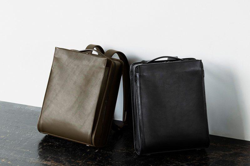 土屋鞄製造所的Vainno商務系列後背包有著直線型包款輪廓與簡約設計,不失專業感。圖/土屋鞄製造所提供