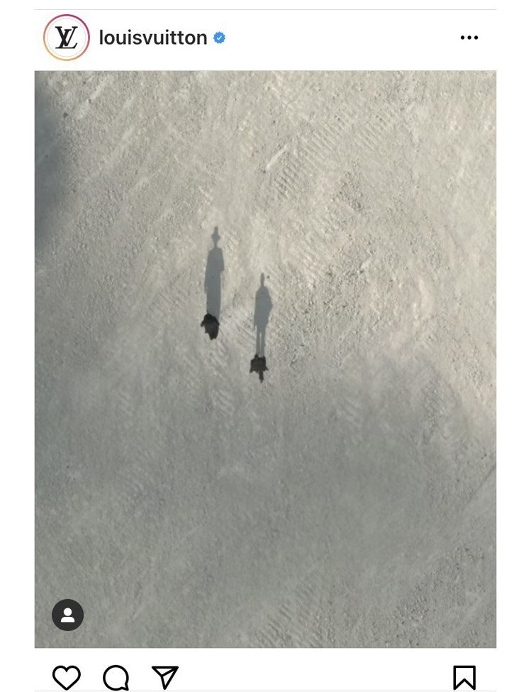 Virgil Abloh在IG發表的2022春夏男裝大秀預告影片饒富詩意。圖/取...