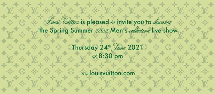 路易威登將於台灣時間今天(6月24日)晚上8點半發表2022春夏男裝秀。圖/取自...