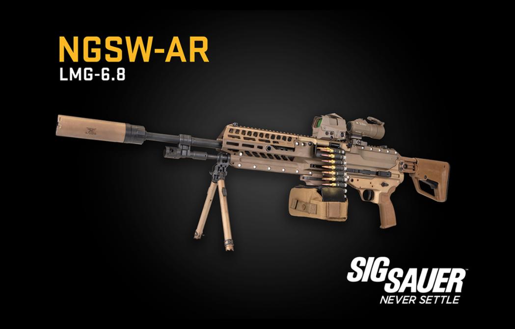 段招標測考的廠商包括通用、德士隆和Sig Saur槍廠,也都採用了單一進彈方式,放棄過去M249的雙重進彈設計。 圖/SIG SAUER