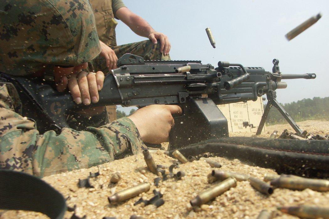 M249班用機槍。 圖/維基共享