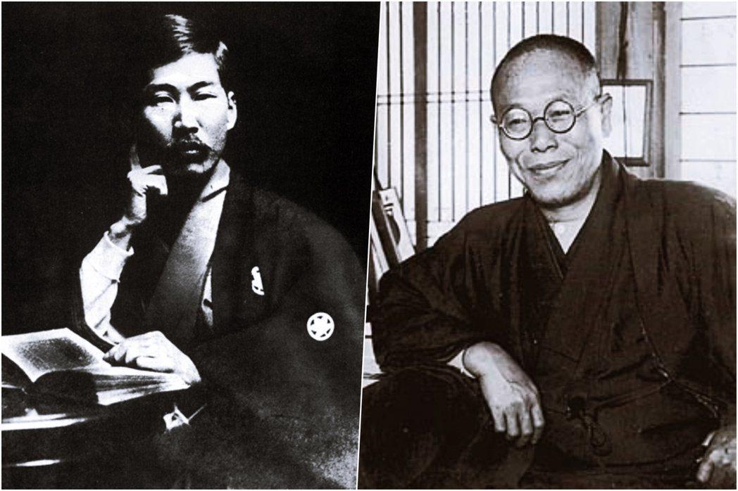 左為幸德秋水、右為堺利彥,兩人都是日本明治時期著名的思想家,合譯了日文版的《共產...