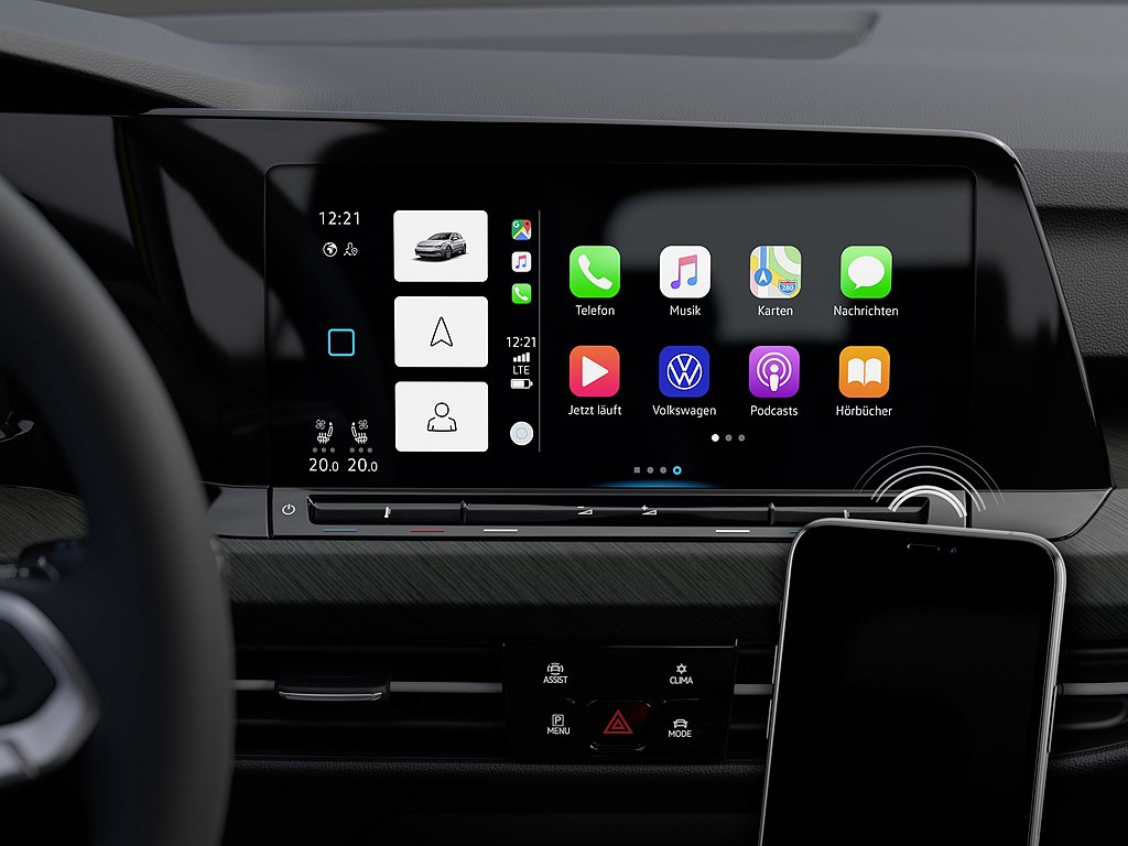 全新第八代福斯Golf具備無線Apple CarPlay及提供福斯汽車首款無線A...
