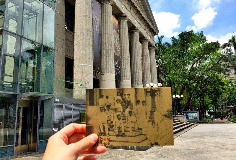 臺灣博物館立面與老照片的對照。(圖/楚楚提供)