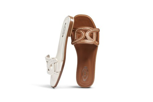 TOD'S Kate皮革平底拖鞋,21200元。 圖/迪生提供
