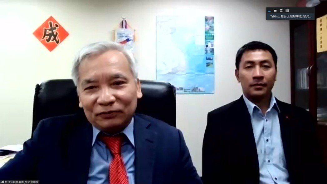 阮英勇大使與駐台北越南經濟文化辦事處投資組長黎光俊。 台越協會/提供