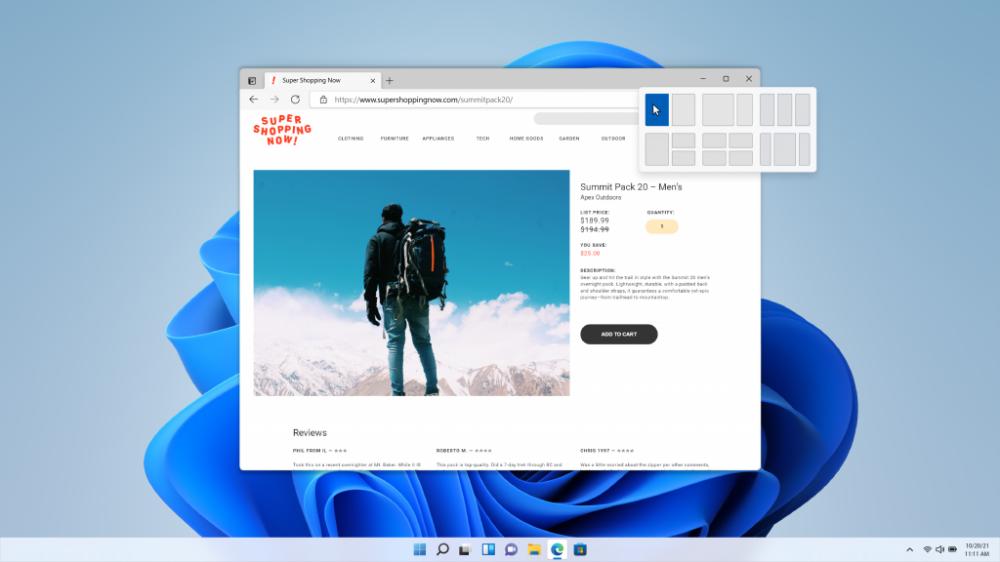 ▲透過全新開始佈局設定各個視窗顯示方式,並且可透過 Snap Group 設定群...