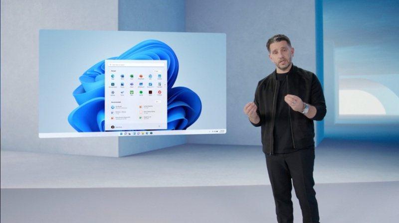 ▲微軟產品長Panos Panay介紹Windows 11