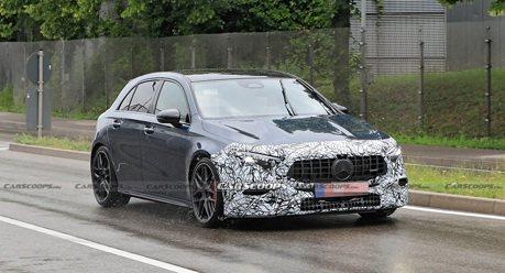 超級鋼砲 2022年式小改款Mercedes-AMG A45間諜照曝光!