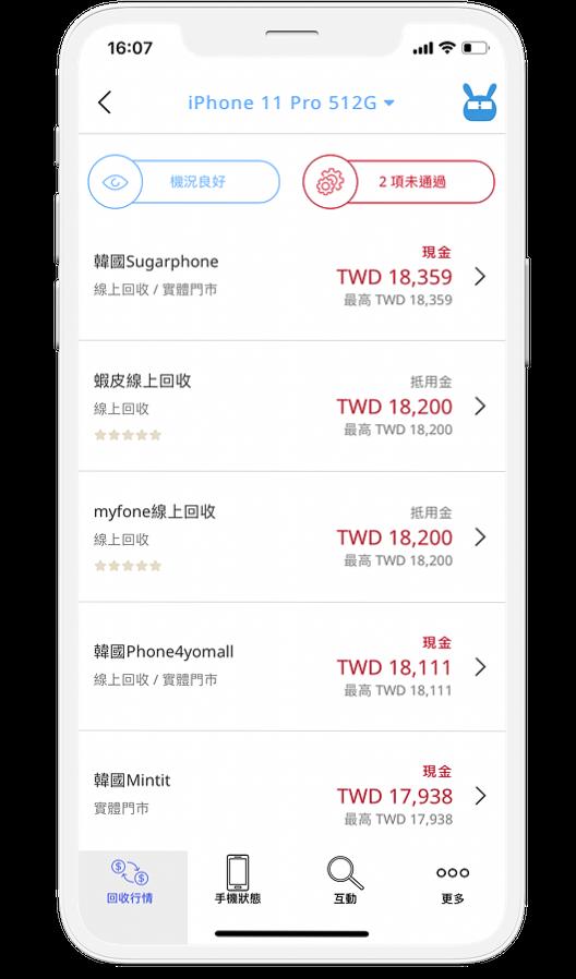 手機醫生App提供超過40個回收平台比價服務。圖/高市經發局提供