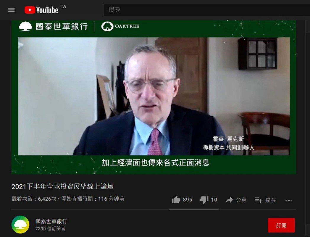 國泰世華銀行特別跨海邀請霍華.馬克斯,親自為台灣廣大投資者帶來最新的市場觀察。霍...