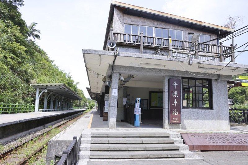 罕無人煙的平溪車站成了另一種秘境。記者王聰賢/攝影