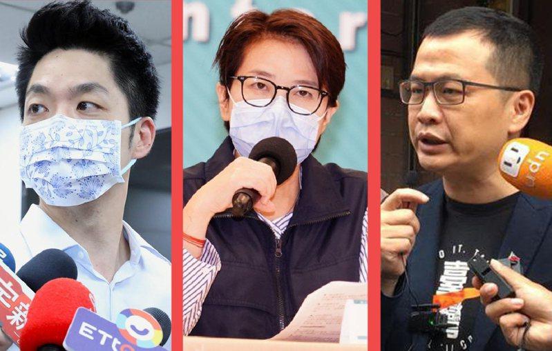 2022年的台北市長選舉,在疫情下網路聲量各自消長。聯合報資料照