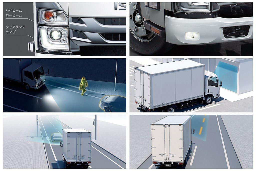 日本ISUZU ELF SG也導入LED頭燈、前方碰撞煞車輔助系統(含行人偵測)...