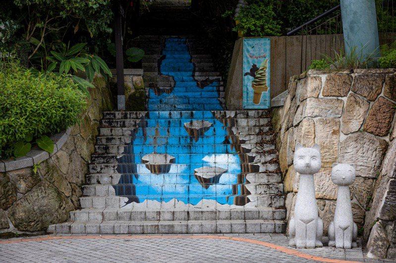 免到國外,原來貓空就有階梯上的3D畫作可以欣賞。記者沈昱嘉/攝影
