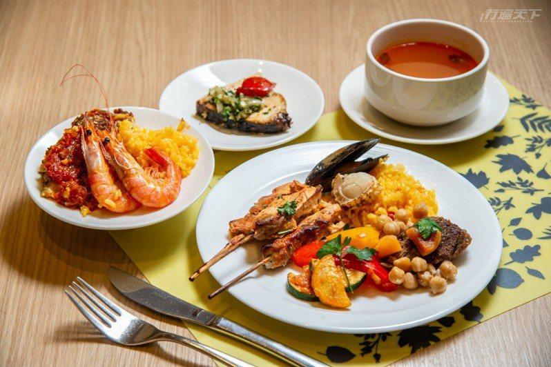 剛推出的地中海料理自助餐,讓人秒出國。