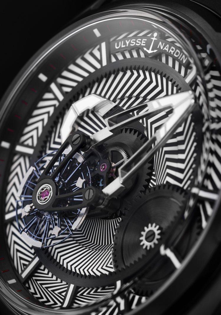 雅典(Ulysse Nardin)的Freak X Dazzle腕表,使用條狀的...
