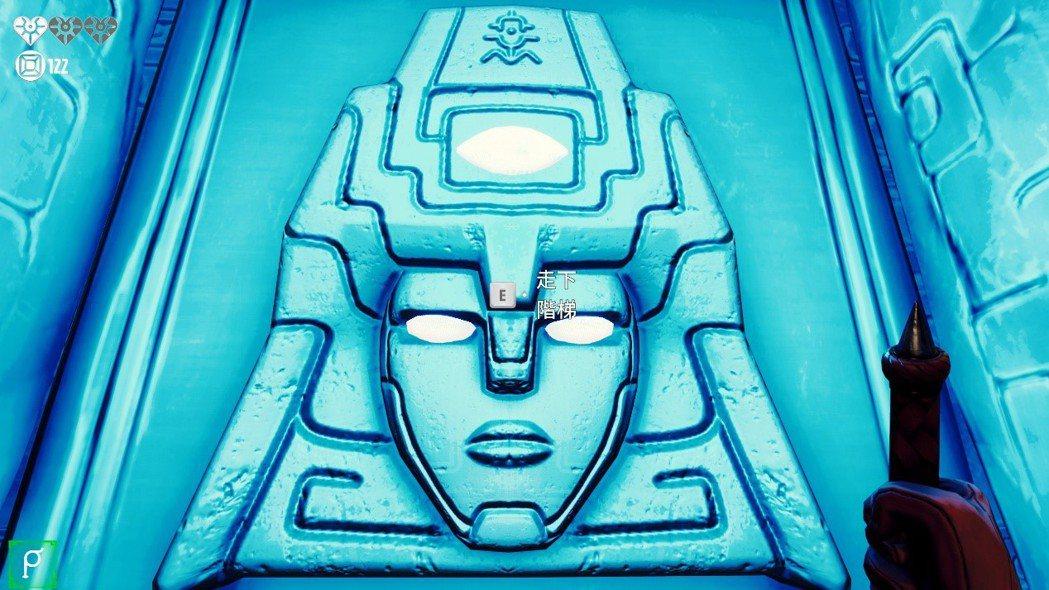 每推進一段神殿的階梯門,就是守護者的長相,像是變形金剛(誤)