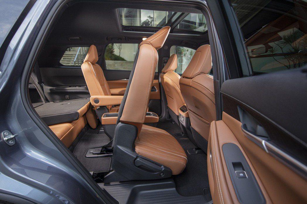 第二排座椅可透過一鍵式按鈕電動滑動,讓乘客能夠更方便輕鬆地進入第三排。 摘自In...