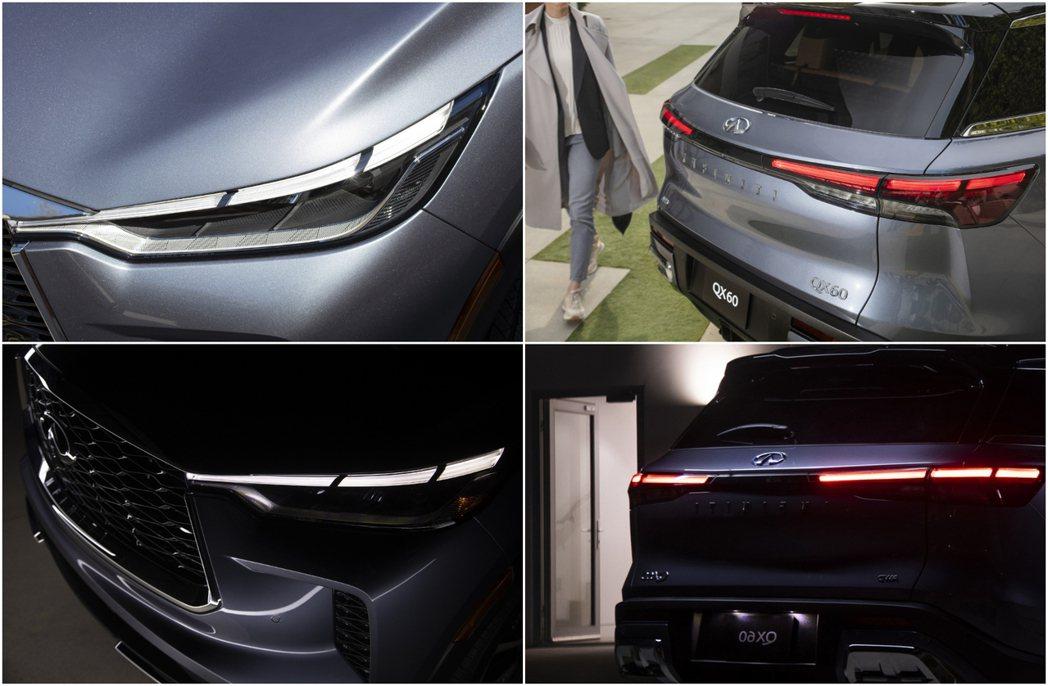 前方的日行燈或是後方的車尾燈都採用LED的「琴鍵」光條設計,辨識度相當高。 摘自...