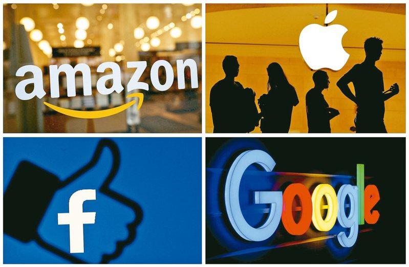 科技業四大巨頭亞馬遜、蘋果、臉書、谷歌很難不被捲入政治紛擾。(路透)