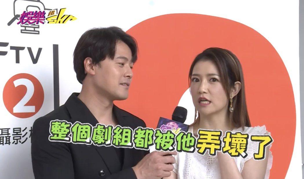 黃文星(左)因演出「多情城市」反派角色獲好評,飾演妹妹的郭亞棠上節目爆料。圖/民...