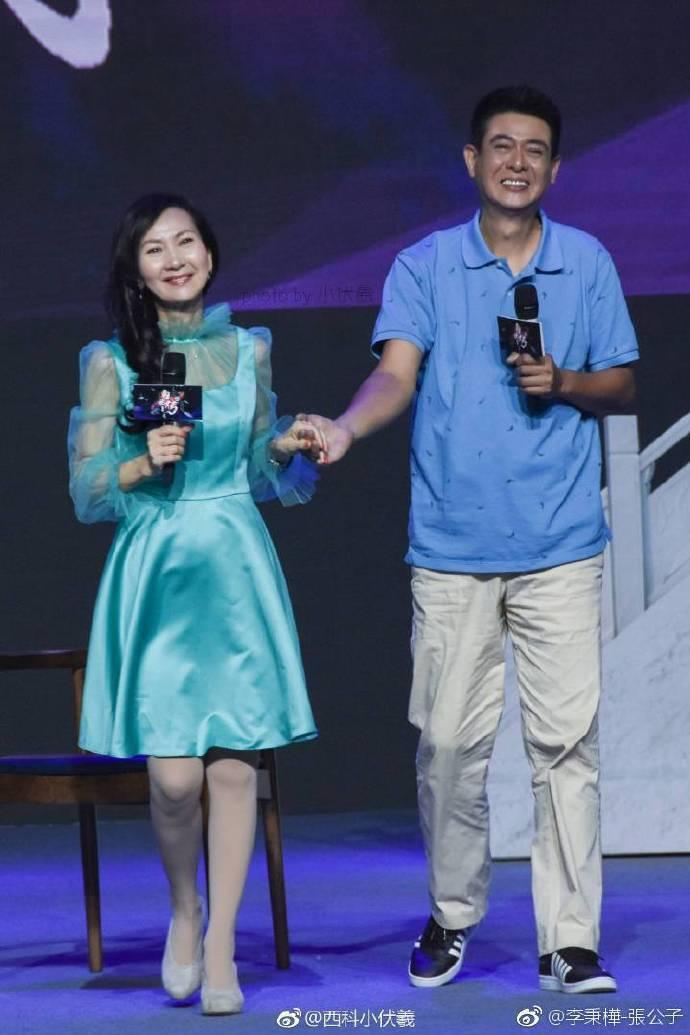 李秉樺曾到大陸出席「新白娘子傳奇」活動,與扮演小青的陳美琪重逢。圖/摘自微博