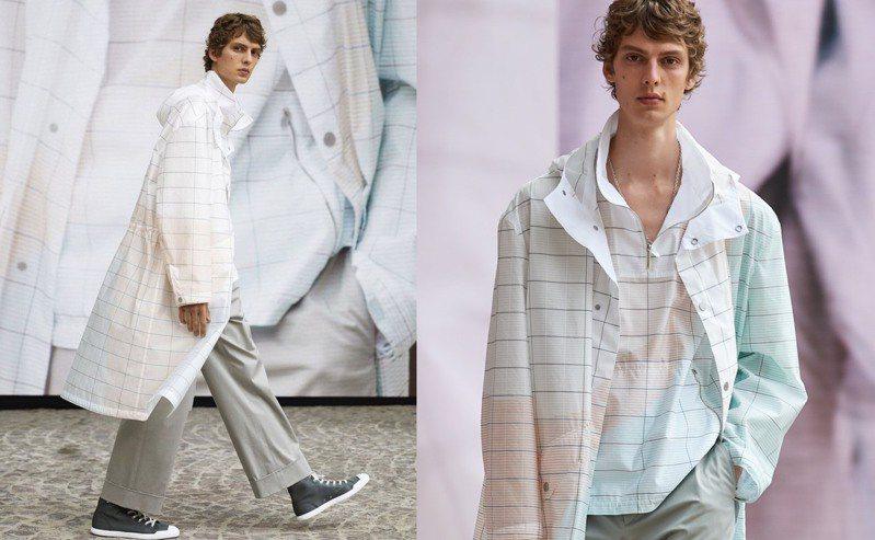 2022夏季男裝系列主要表達了我們生活中的優雅、流動性和不斷變化的本質,還帶有一絲航海精神,目的在於鼓勵人們「出去走走」。圖/愛馬仕提供