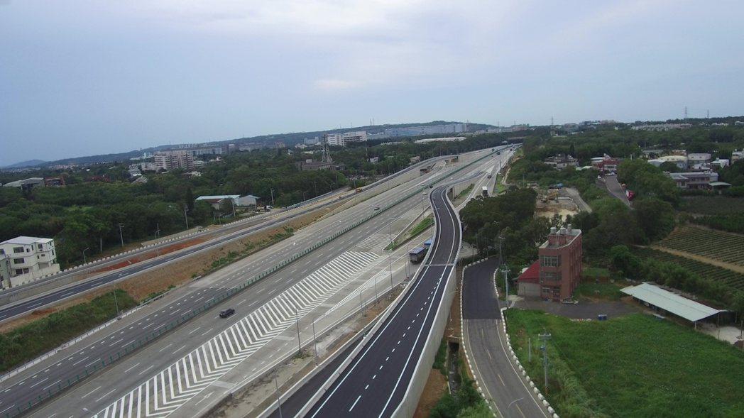 國道3號高原交流道29日中午12點通車(圖,桃市交通局提供)。