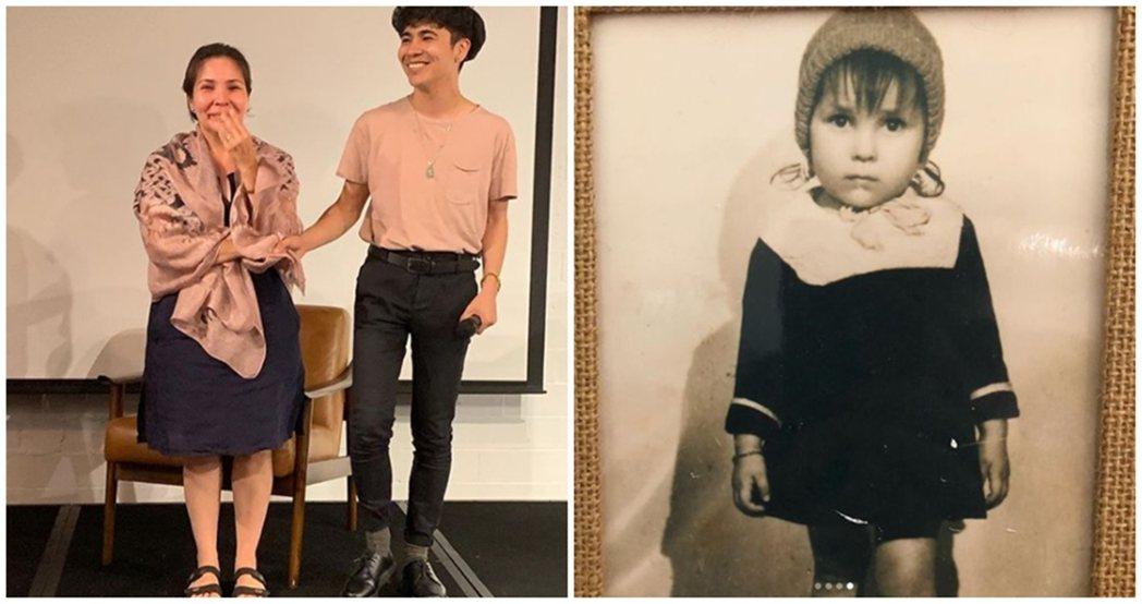 母親玫瑰,以及她童年時的照片。因為長得太像白人而在越南也遭到許多人的歧視。 圖/...