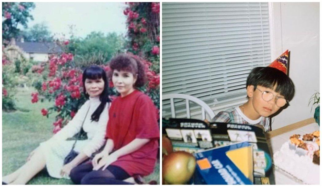 左起為他的祖母蘭、母親玫瑰,右方為童年時在美國長大的王鷗行。為了活下來,蘭成為性...