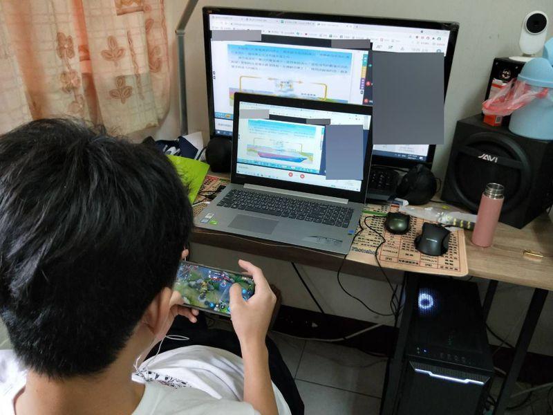 線上教學終究無法完全取代正常教學,台東縣教育處在暑假規畫多元線上學習模式,預為下學年線上教學做準備。圖/讀者提供