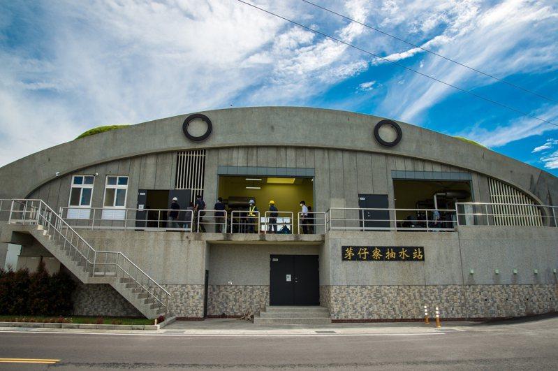 斥資2.6億元興建的宜蘭茅仔寮抽水站,今年夏天正式投入防汛抽水作業。圖/縣府提供