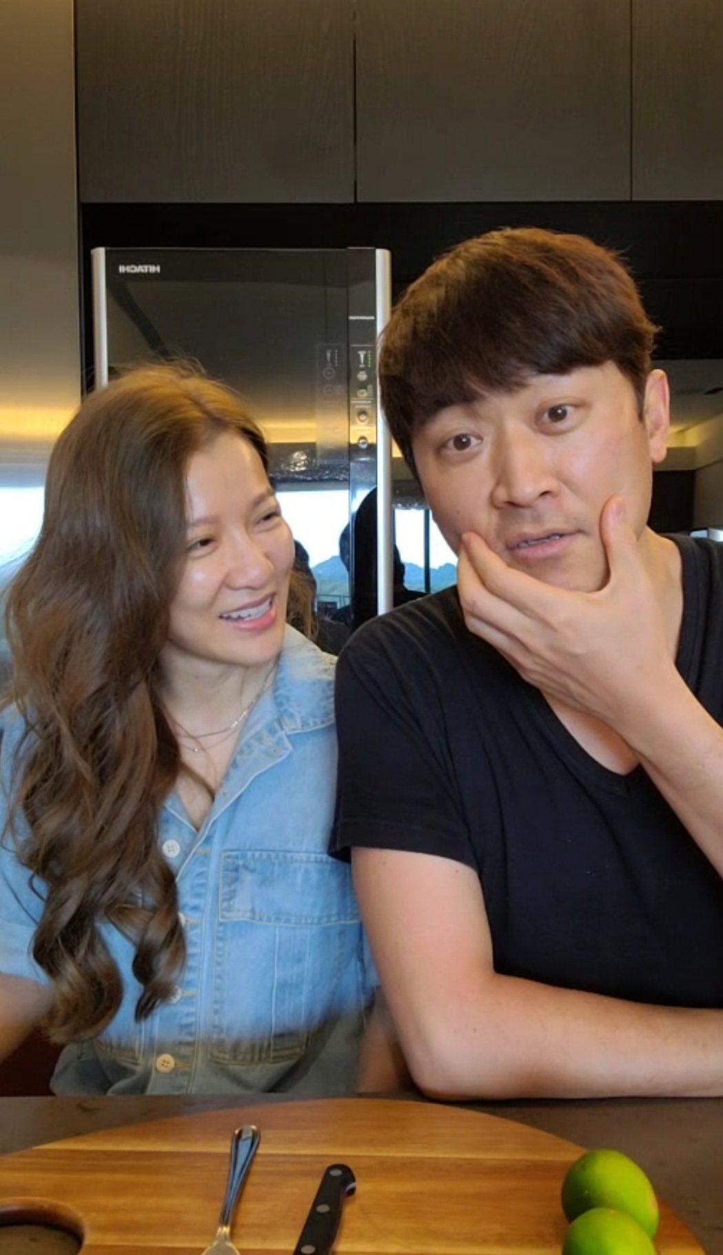 侯昌明透露先前曾雅蘭更瘦。圖/摘自臉書