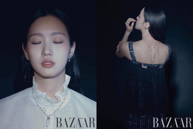 金高銀配戴香奈兒最新的N°5高級珠寶系列登上韓國時尚雜誌。圖/取自IG @harperbazaarkorea