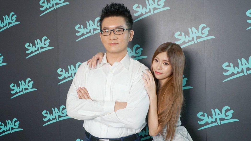 童仲彥和露娜在記者會上有問必答。圖/SWAG提供