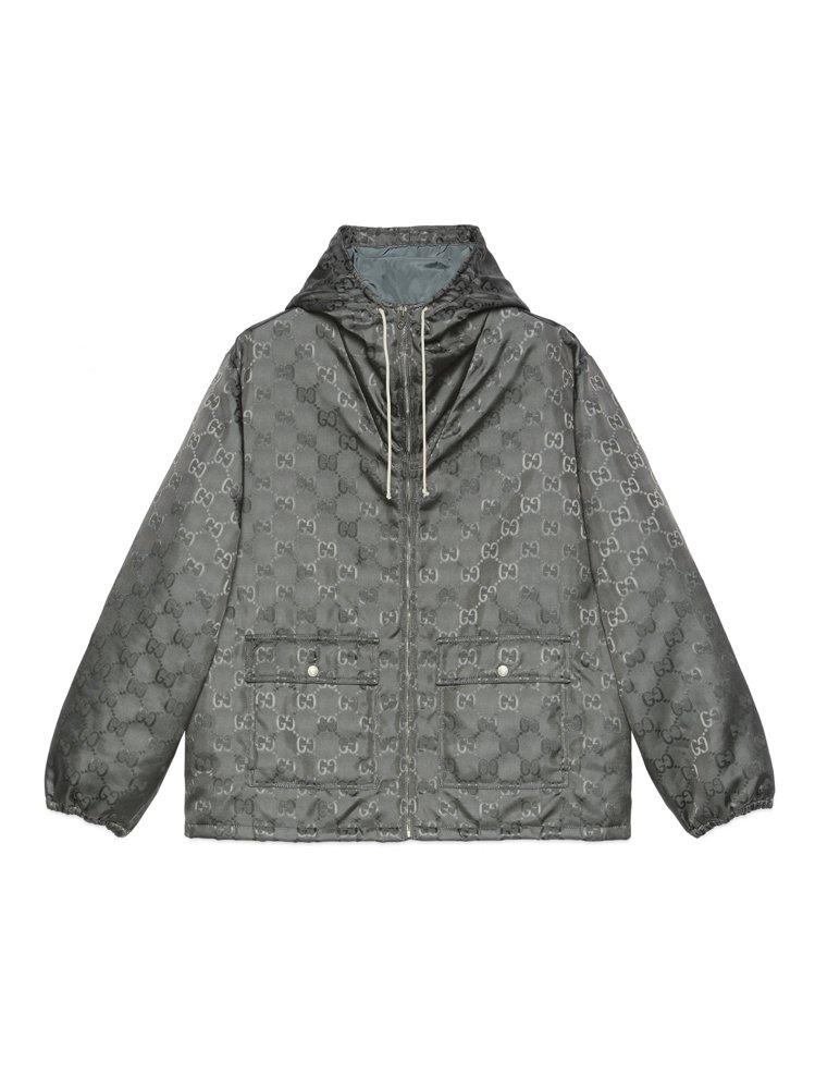 岩石灰OFF THE GRID系列拉鍊外套,70,500元。圖/GUCCI提供