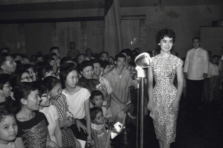 1959年7月29日,林黛出席在三軍軍官俱樂部舉辦的招待酒會。 圖/聯合報系資料照